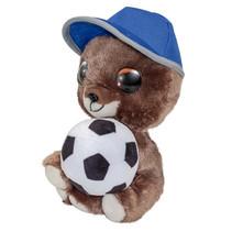 knuffel hond voetbal Pukki junior 15 cm pluche