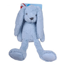 knuffel Konijn junior 37 cm pluche blauw