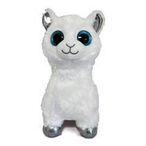 knuffeldier Llama junior pluche wit 15 cm
