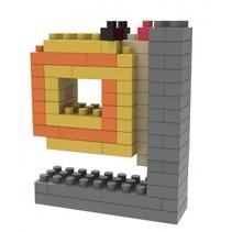bouwpakket mini blokken slak 16 cm