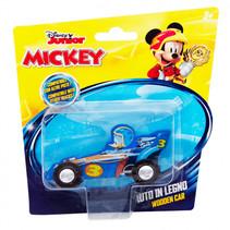 racewagen Donald Duck junior 15 cm hout blauw