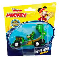 racewagen Goofy junior 15 cm hout groen
