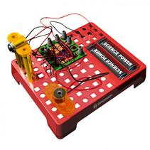 elektrotechnische set junior 11 cm staal rood 15-delig