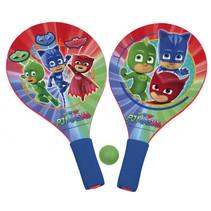 beachballset PJ Masks junior hout blauw/rood 3-delig