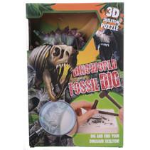 hakpuzzel Stegosaurus junior gips paars 5-delig