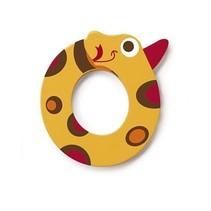 letter O slang geel 5.5 cm