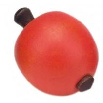 tol hout 6 cm appelvorm oranje