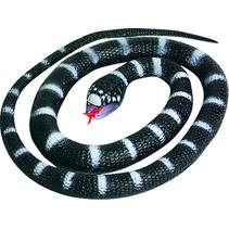 speeldier slang junior 66 cm rubber wit/zwart