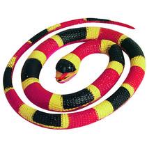 speeldier slang junior 66 cm rubber rood/zwart/geel