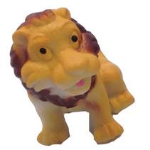 speeldier leeuw junior 6 cm geel/bruin