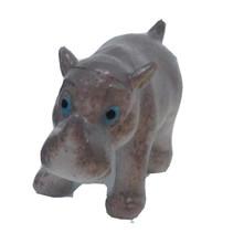 speeldier neushoorn junior 6 cm grijs