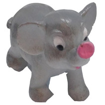 speeldier olifant junior 6 cm grijs