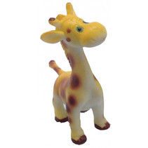 speeldier giraf junior 6 cm geel/bruin