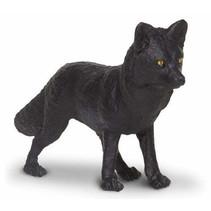 wilde dieren Wolf junior 8,5 cm zwart