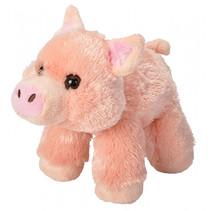 knuffel varken junior 18 cm pluche roze