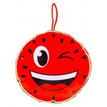 knuffelmeloen 12 cm rood