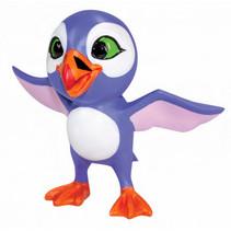 speelfiguur Luna vogel junior 10 cm ABS paars/wit