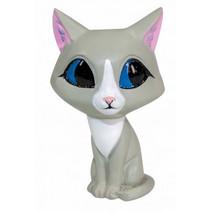 speelfiguur Katti katje junior 10 cm ABS grijs/wit
