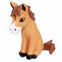 speelfiguur Reino paard junior 10 cm ABS bruin/wit