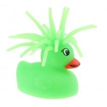 fluffy eend met licht 5 cm groen