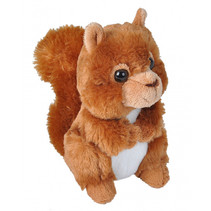 knuffel eekhoorn junior 18 cm pluche oranje