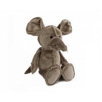 knuffel muis junior 19 cm pluche grijs