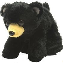 knuffelbeer junior 18 cm pluche zwart/bruin