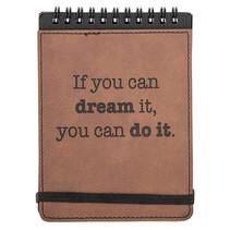 notitieboekje quote 15,3 x 11 cm kunstleer bruin
