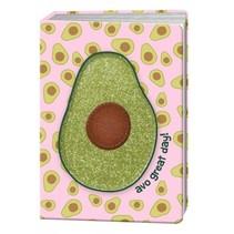 Happy Zoo notitieboek A5 avocado met glitter print