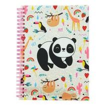 notitieboek Happy Zoo panda A5 roze