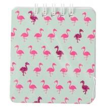 notitieboekje flamingo groen/roze