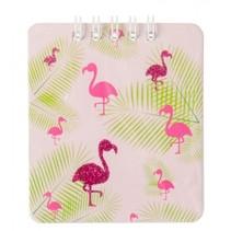 notitieboekje flamingo roze