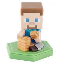 speelfiguur Minecraft Earth Boost junior 5 cm beige/groen