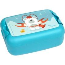 broodtrommel ijsbeer 1 liter blauw
