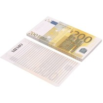 Memoblok briefgeld 200 Euro