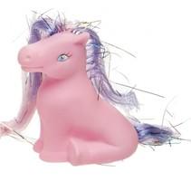 pony 6 cm roze/paars