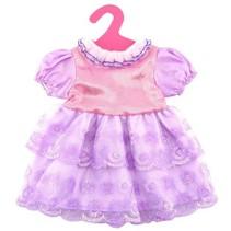 babypoppenjurk 46 cm paars/roze