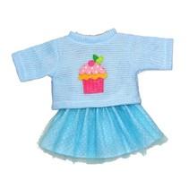 poppenkleren voor een pop van 28-35 cm blauw