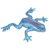 kikker elastisch junior 11 cm siliconen blauw