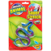 speeldier slang junior 22,5 cm rubber blauw