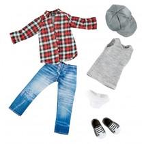 Skater outfit tienerpop kledingset 6-delig