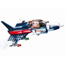 straaljager junior 18,7 cm blauw/rood 134-delig