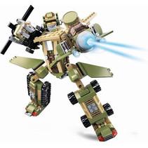 robotkoning Land Force junior 28 cm groen 448-delig