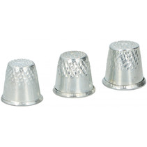 vingerhoedjes 16 - 18 mm staal zilver 3 stuks