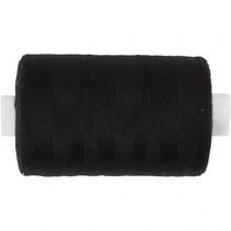naaigaren polyester zwart 1000 meter