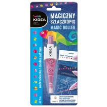 decoratietape cadeaus Magic Roller 4 m roze/wit
