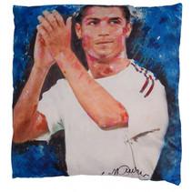 kussen Cristiano Ronaldo 40 x 40 cm polyester blauw