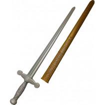 ridderzwaard junior 75 cm zilver/goud 2-delig