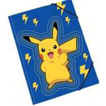 elastomap Pokemon junior A4 karton blauw/geel