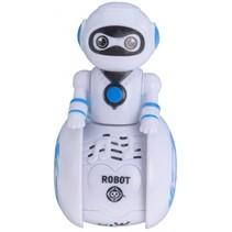 robot met licht en geluid wit 11 cm